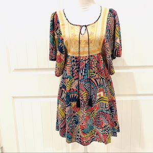 🌿Anthropologie Flying Tomato Boho Dress -Med🌿